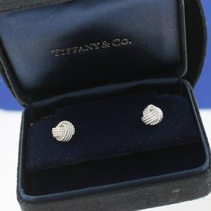 Tiffany Somerset Twist Knot Earrings Suede Box